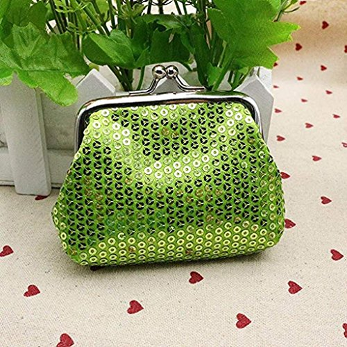 Clutch Wallet Small Noopvan Handbag 2018 Clearance Wallet Ladies Purse Sequin Wallet Coin Womens Green Retro nvvfrHq