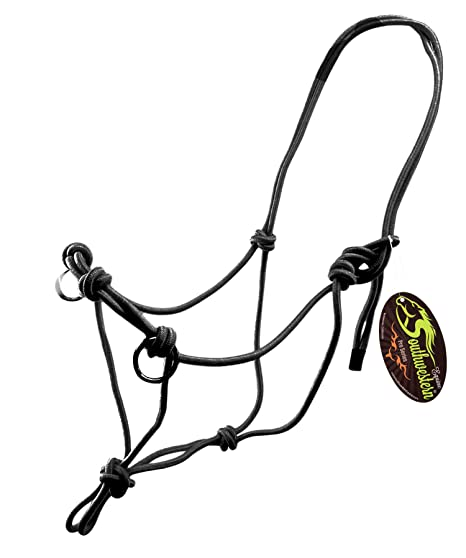 Amazon Com Side Pull Rope Halters With Nickle Plated Rings