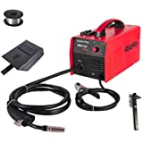 Display4top Portable No Gas MIG 130 PLUS Welder Flux Core Wire Automatic Feed Welding Machine,DIY Home Welder w/Free Mask - 110V