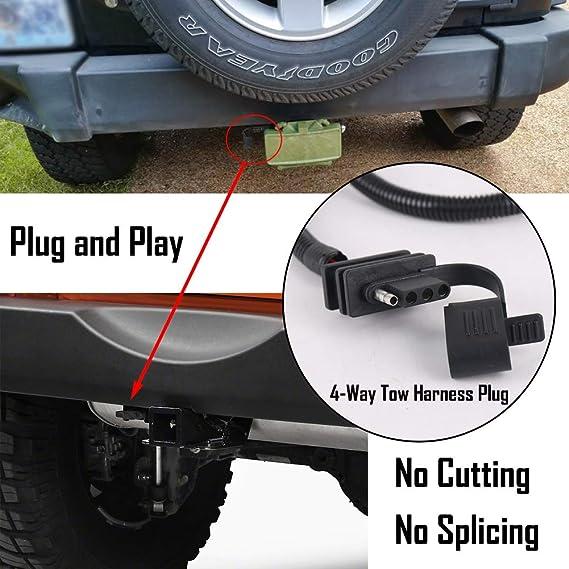 amazon com pxpart jk trailer wiring harness 65inch electric jeep rh amazon com