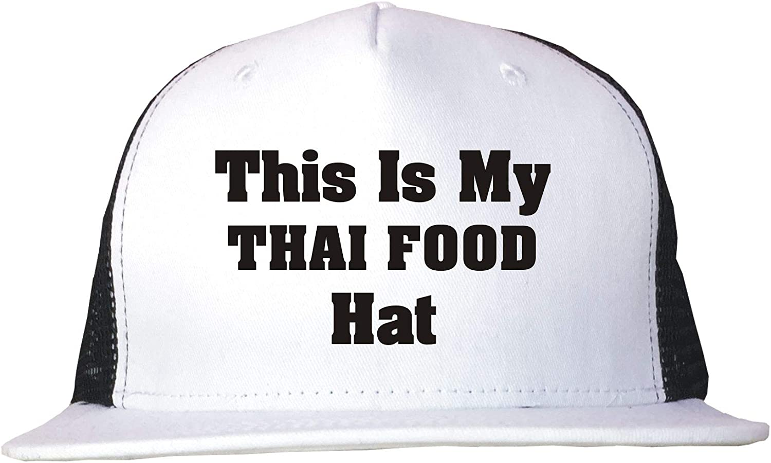 99 Volts This is My Thai Food Hat Adult Trucker Cap Adjustable Black/White