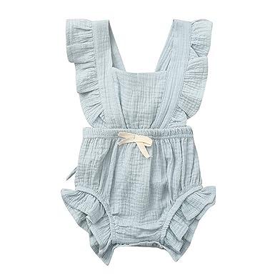 Bady Mädchen Outfit Lang Overall Sommer Jumpsuit Strampler Sommerkleid Streifen