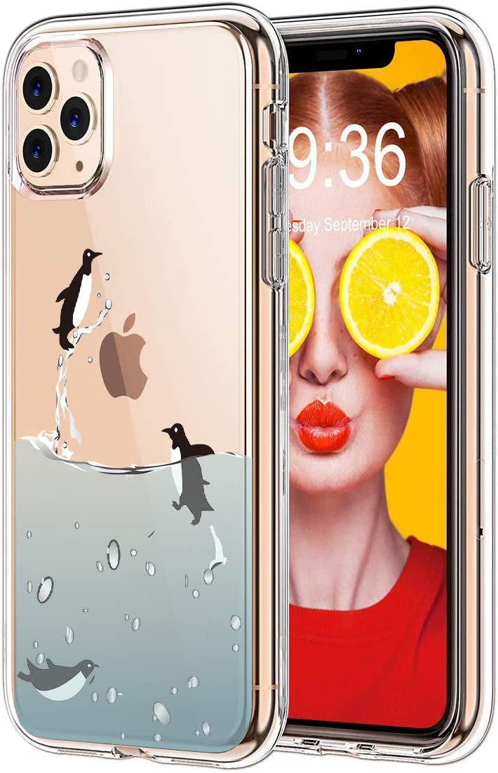 Clear iPhone 11 Pro Case, GoldSwift Clear Soft Flexible Case for iPhone 11 Pro 5.8-Inch 2019 (Flying Penguin)