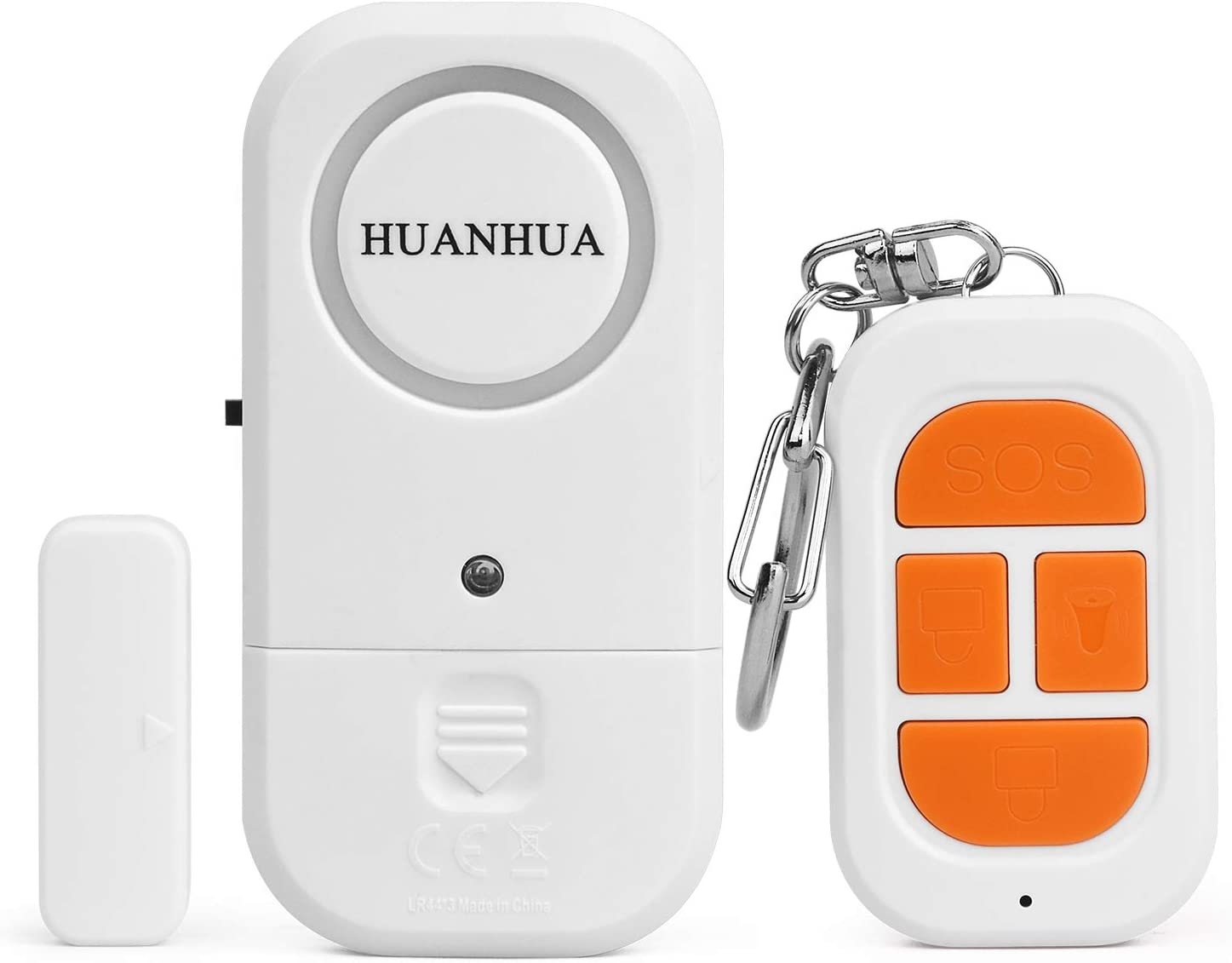 HUANHUA Window Door Alarm, Wireless Remote Alarm Sensor with 1 Siren Unit,1 Remote Control Home Security System for Protecting Kids Safety, Home, Store