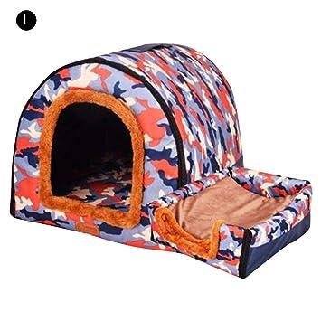 Domitlar Parque de Juegos Premium para Mascotas con caseta de Doble Uso Desmontable y Lavable,