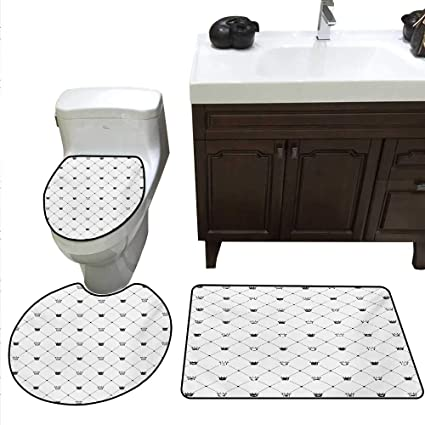 Fantastic Amazon Com Abstract Bathroom Rug Set Kings Crown Classic Home Remodeling Inspirations Genioncuboardxyz