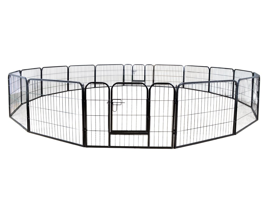 TMS 24'' Tall 16 Panels Metal Pet Dog Puppy Cat Exercise Fence Barrier Playpen Kennel