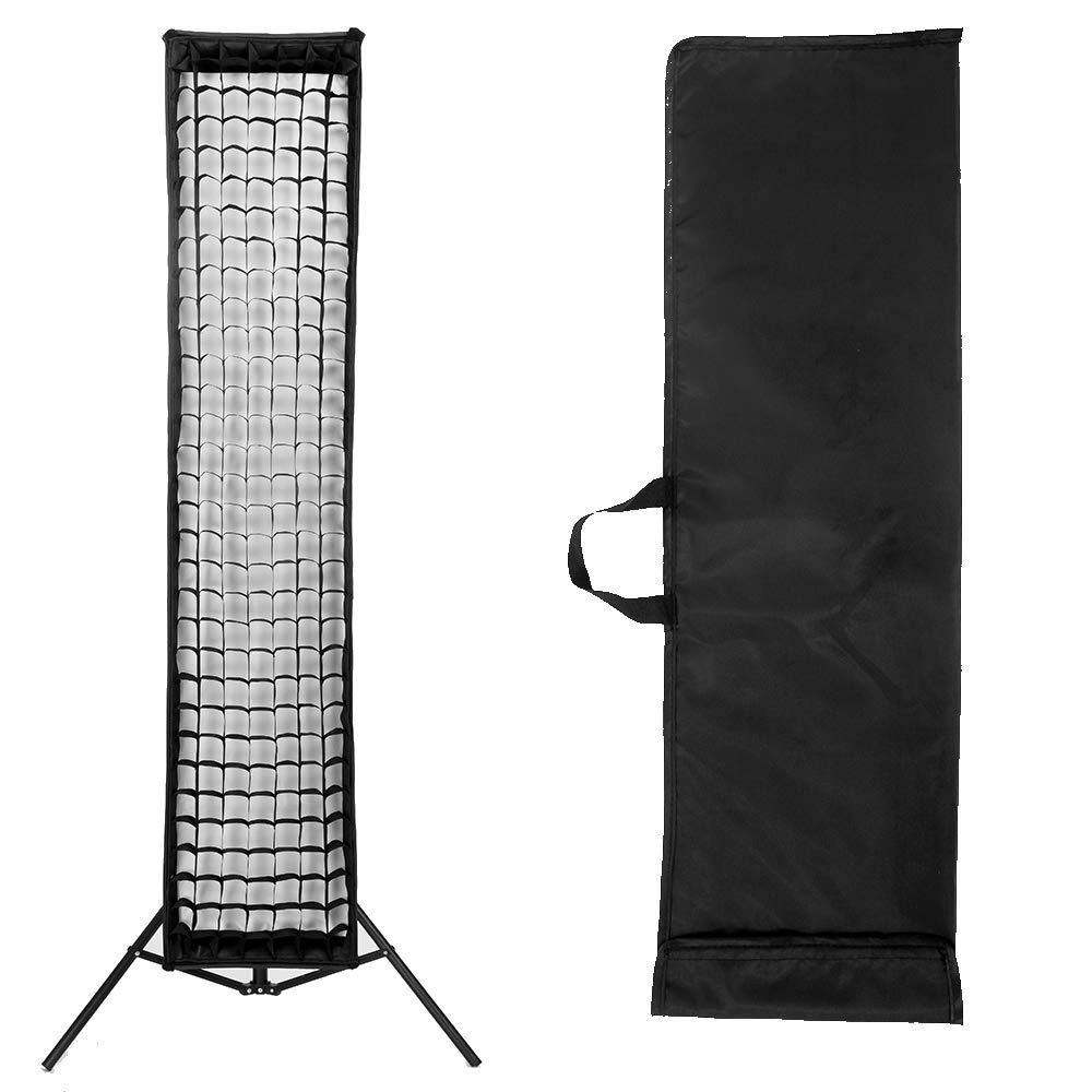 FOTOCREAT 14''×63''(35×160cm) Quick Folding Bowens Mount Strip Softbox with Honeycomb Grid for Studio Flash Speedlite(one pcs) by FOTOCREAT