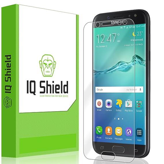 new product e61a1 9cec5 Galaxy J7 Pro Screen Protector, IQ Shield LiQuidSkin Full Coverage Screen  Protector for Galaxy J7 Pro HD Clear Anti-Bubble Film
