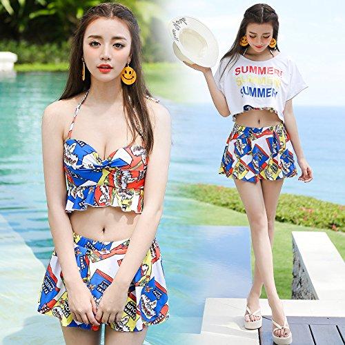 YUPE Hot spring Badeanzug Mode Bademode weiblich 4-stück Rock bikini