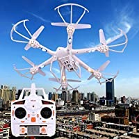 AMPERSAND RC Quadcopter MJX X600 Remote Control 2.4G 6 Axis FPV 3D White