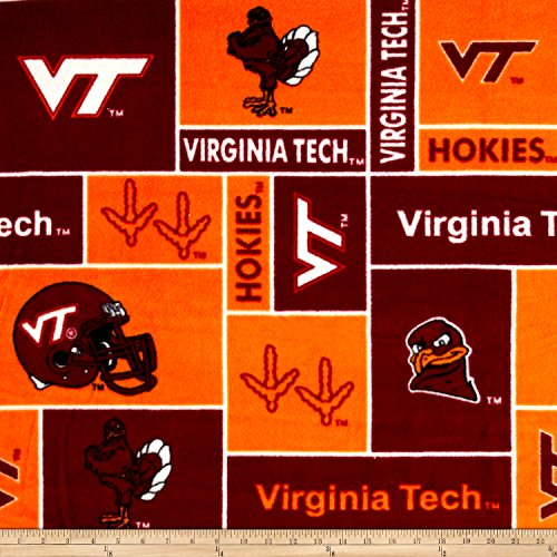 Virginia Tech Fleece Blanket (Collegiate Fleece Virginia Tech Fabric By The Yard)