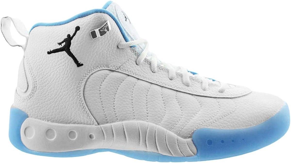 Nike Jordan Mens Jumpman Pro 白い/黒/University 青/Metallic 銀 Leather Basketball Shoes 9 M US
