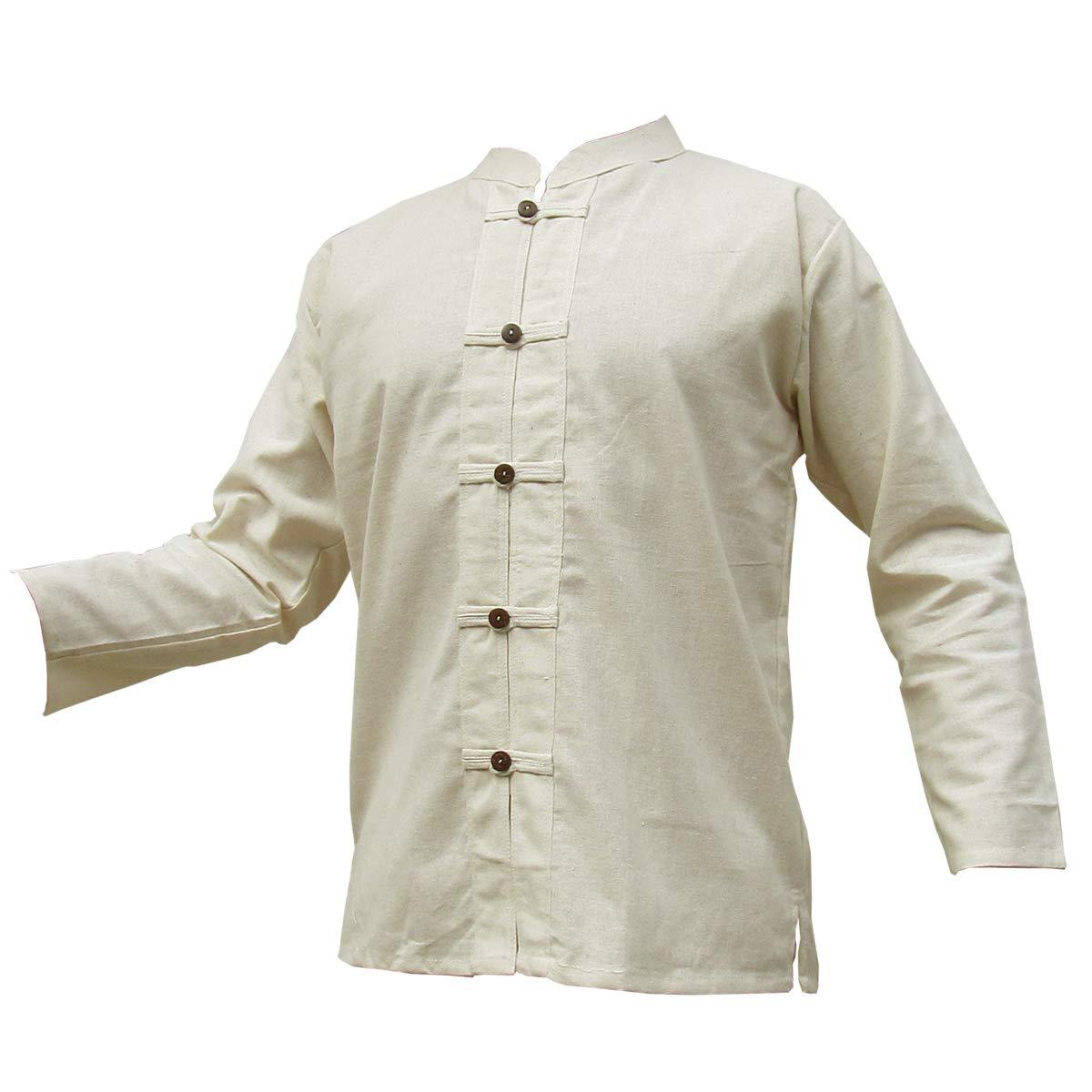 Panasiam® - camisas y pantalones Naturales, 100% algodón no tratado, tallas de la S a la L (es necesario que compres una talla más grande de lo habitual)