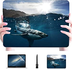 """MacBook Pro 13 Cases Great White Shark Also Known As Carcharodon Carcha Plastic Hard Shell Compatible Mac Air 13"""" Pro 13""""/16"""" 12 Inch MacBook Case Protective Cover for MacBook 2016-2020 Version"""