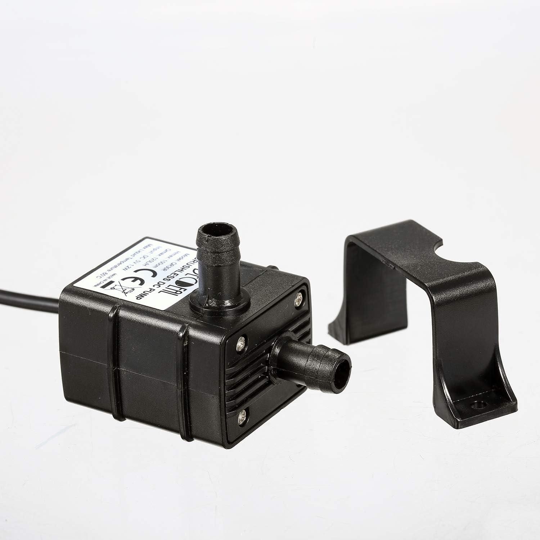 H 1.2W Qnotici Bomba de Agua sin escobillas USB Ultra silenciosa Mini DC5V Bomba de Aceite de Agua sin escobillas Micro Bomba de Fuente Sumergible a Prueba de Agua Acuario Que circula 120L