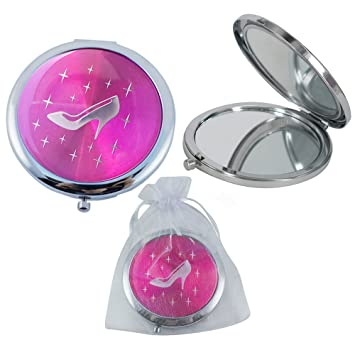 Cinderella High Heel Shoe Design Compact Mirror Favor 12PCS Fuchsia/Quinceanera/Sweet 16/
