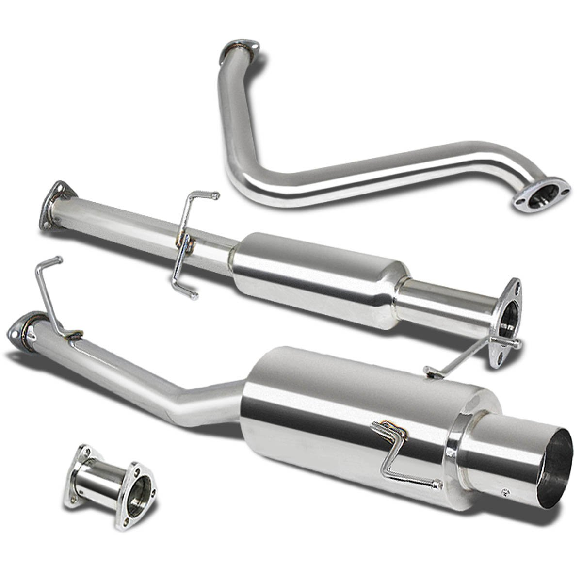 DNA Motoring CBE-HP97 CBEHP97 Stainless Steel Catback Exhaust System