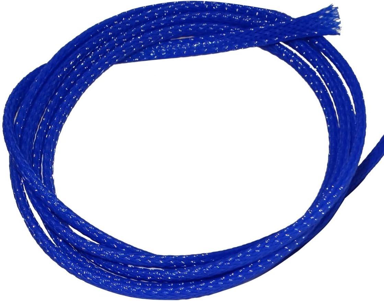AERZETIX: 4.5 metros 4mm 3-7 Funda trenzada termorretráctil para cables eléctrico mangas trenzadas azul C41289