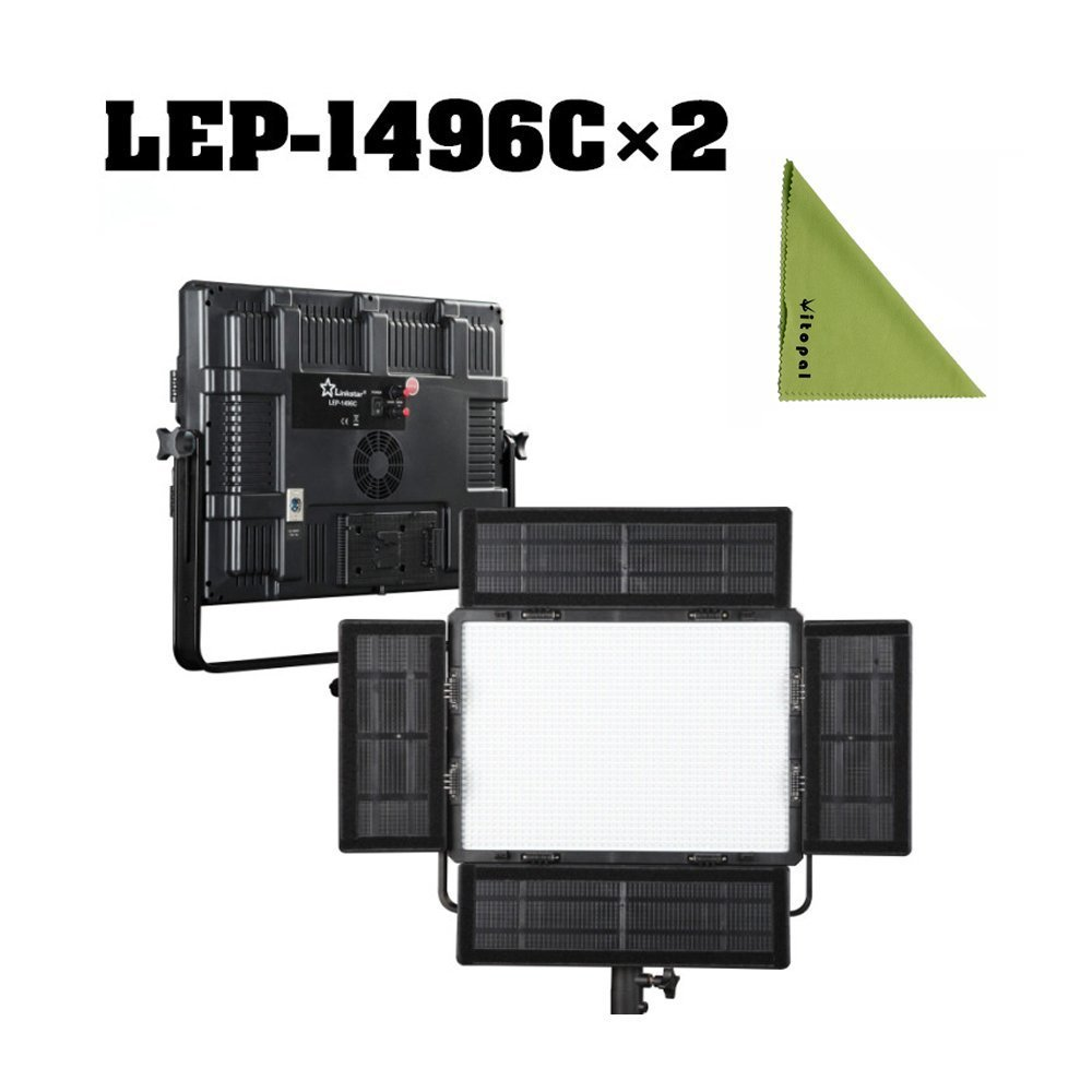 Linkstar LEP-1496C Bicolor 2色色温度 3000k-5600k 90W写真ライト CRI95カメラ/ビデオ照明 カラーステラレス 調節可能 (2pcs LEP-1496C) 2pcs LEP-1496C  B06Y41YV94