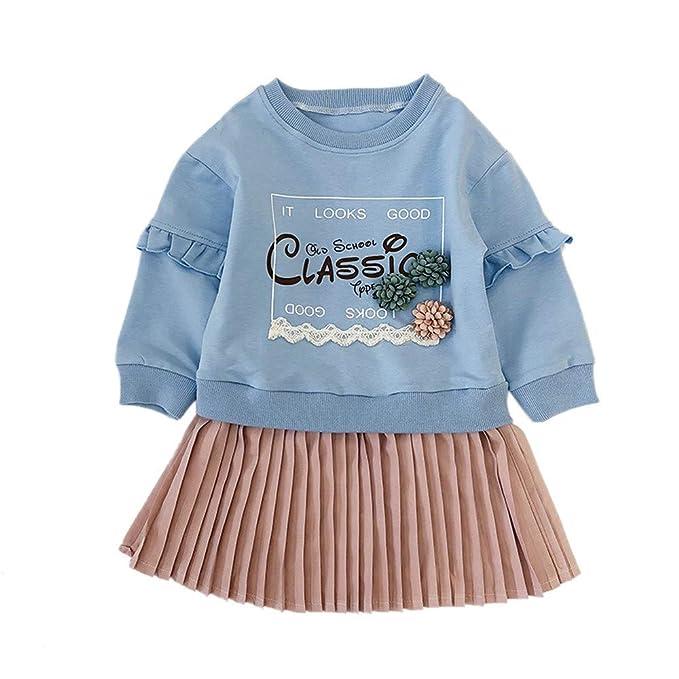 d9ea5901a ASHOP Vestidos niña Vestido Plisado de Sudadera con Letras Tutu Falda  Princesa  en Oferta  1-5 Años  Amazon.es  Ropa y accesorios