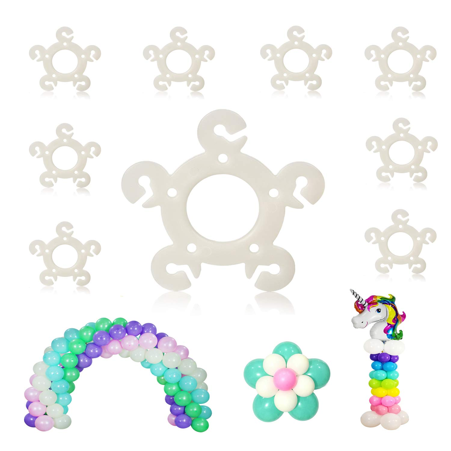Party Zealot 120 pcs Balloon Clips s for Balloon Arch Balloon Column Stand and Balloon Flowers