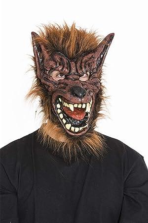 Máscara de Hombre lobo marrón