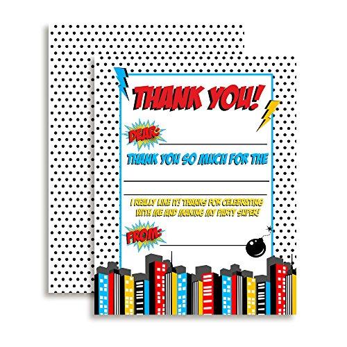 Super Hero Themed Thank You Notes for Boys, Ten 4