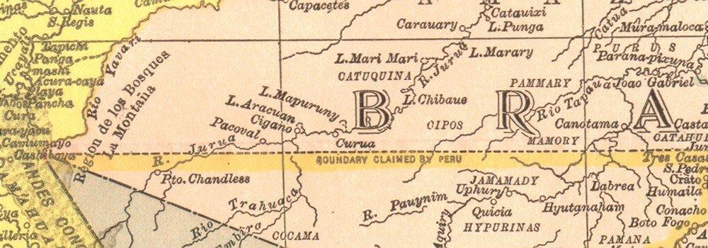 S América: Colombia Venezuela el Brasil Ecuador Perú Bolivia Lima, 1907 mapa: Amazon.es: Hogar