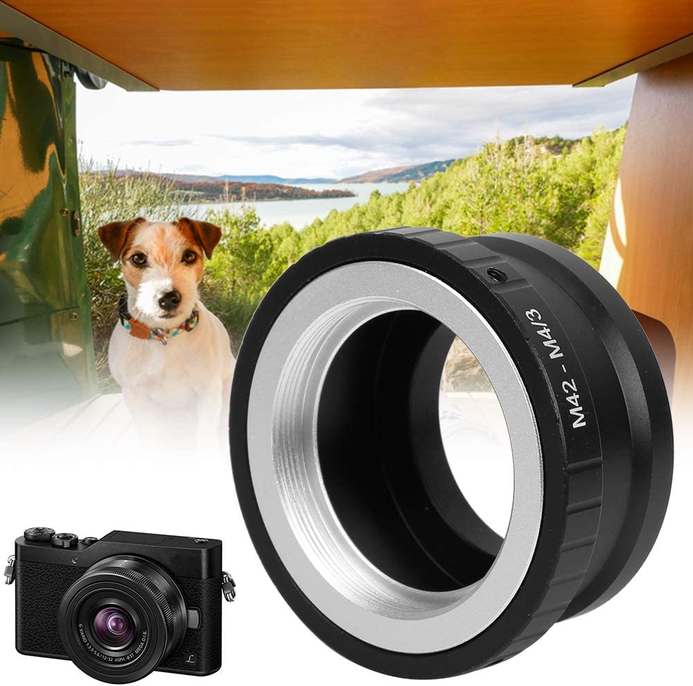Diyeeni Metal Lens Mount Adapter Camera Lens Adapter Ring for M42 Mount Lens to Fit for M4//3 Interfaces Camera Body.
