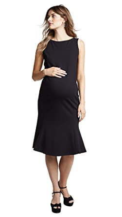 fe35c9de2812a Ingrid & Isabel Women's Tulip Hem Ponte Maternity Dress, Jet Black, ...
