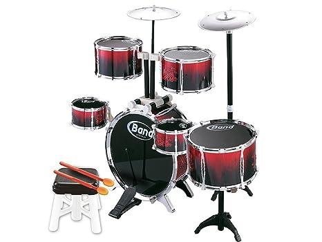Teorema batteria musicale elementi con sgabello e