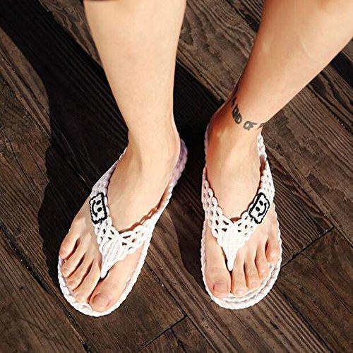 De De Verano Playa Color Azul Puro EU43 Zapatillas UK9 Sandalias QIDI Tamaño 5 Antideslizante Temporada Zapatos Blanco Resistente Hombres Al Desgaste Color OzwSInqxw7
