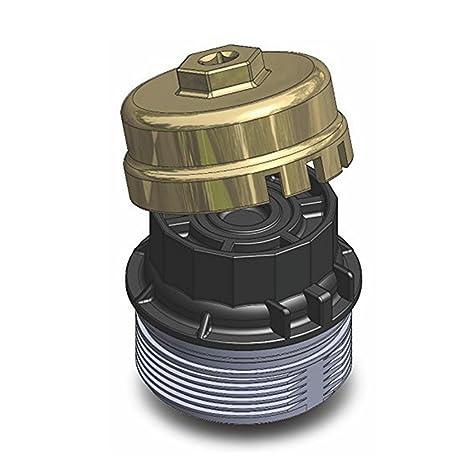 fuway aluminio filtro de aceite Copa Llave para Toyota Prius Corolla RAV4 Lexus Highlander: Amazon.es: Coche y moto