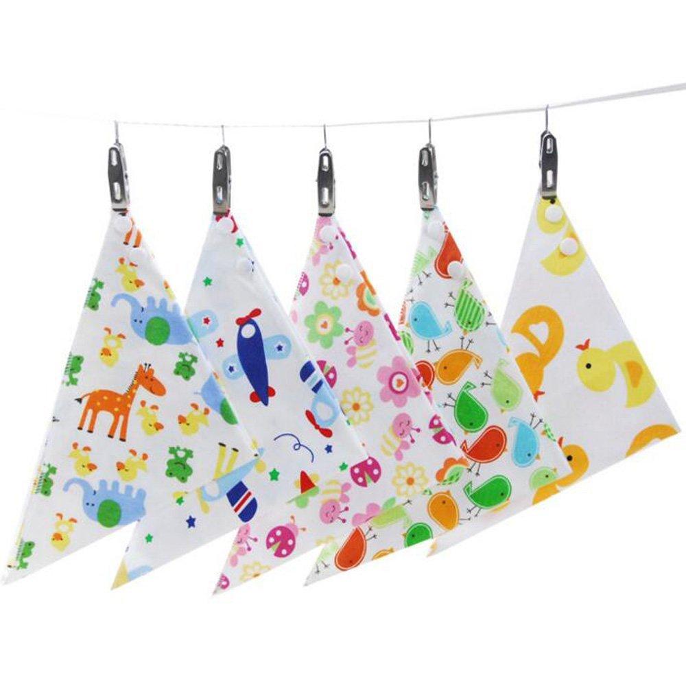 Startony Baby Bandana Drool Bibs Cute Cotton Absorbent Unisex Baby Gift Saliva towel, 5 Pack QY-NY0053-5pcs