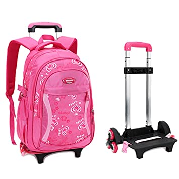 Fellibay Rolling Backpack Kids With Wheels Children School Bags 3 Climb Stair