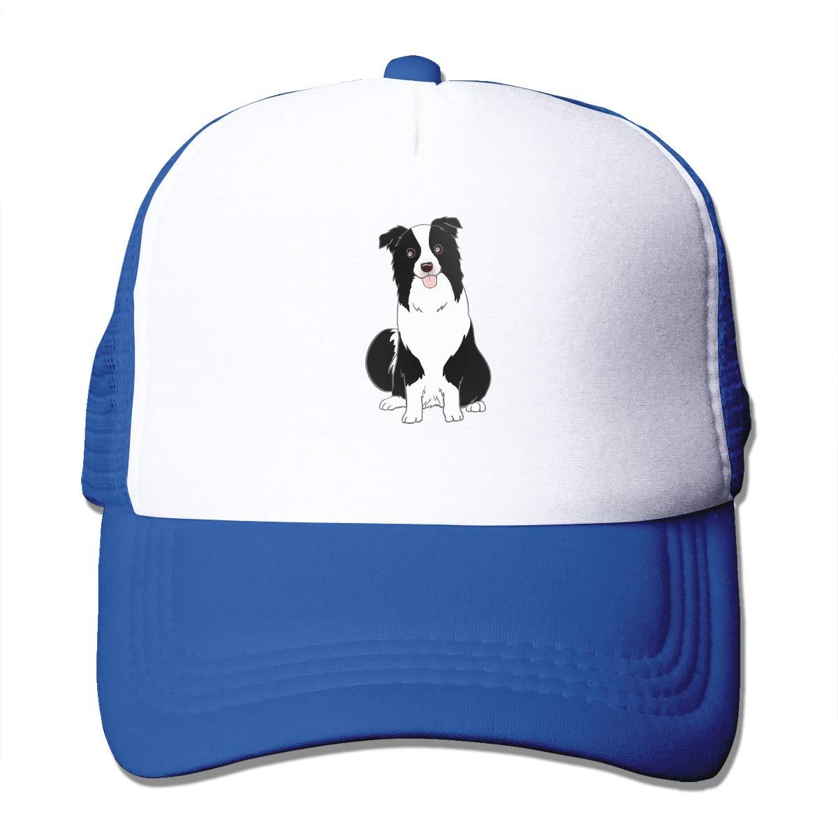 ShenigonA Border Collie Stole My Heart Intelligent Breed Sun Protection Adjustable Caps Cooling Mesh Hat Blue