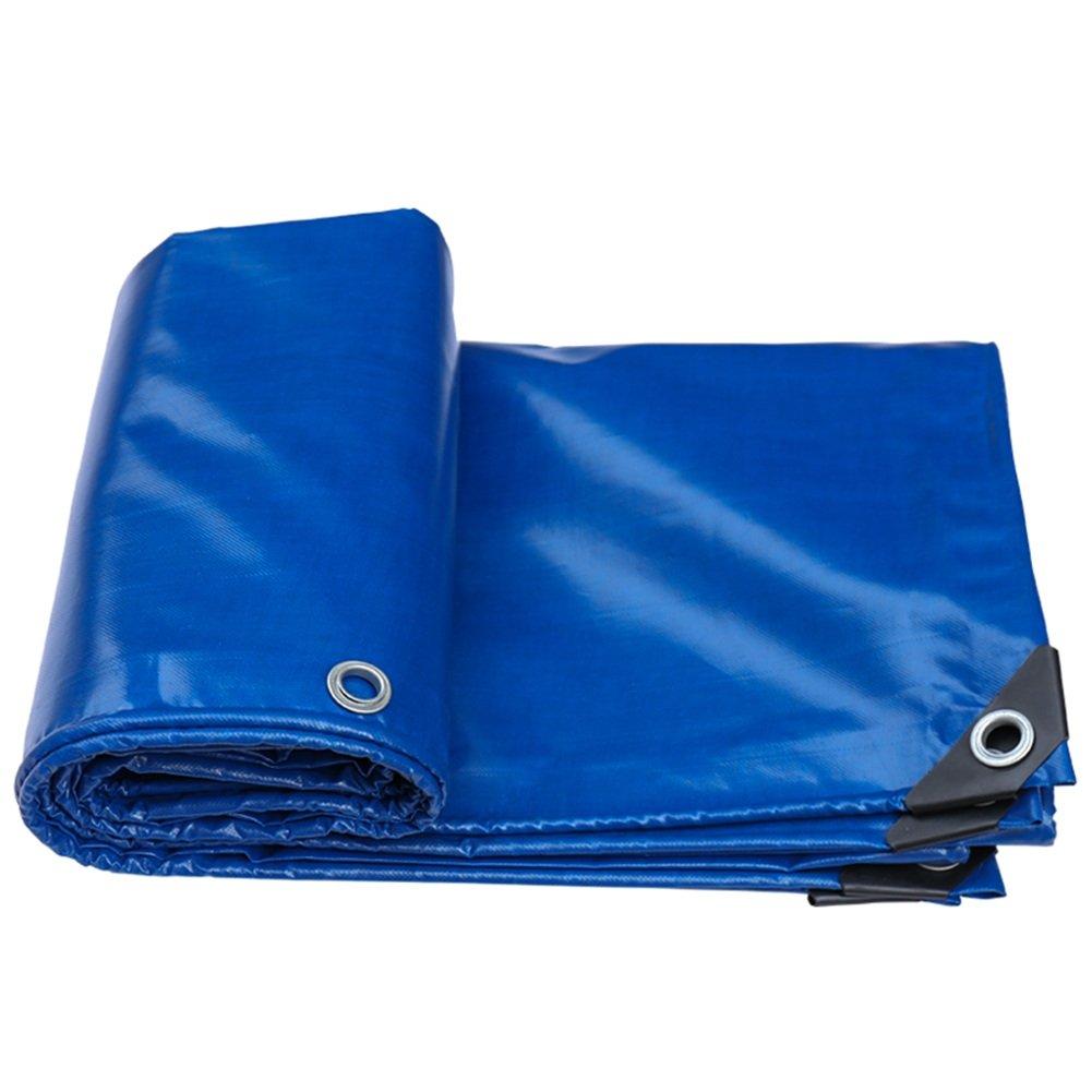 Regenschutz Wasserdicht Plane, regendichte Sonnenschutzplane, LKW-Plane Schatten im Freien Staub- und Winddicht, Blau, (Farbe   A, Größe   3x3M)