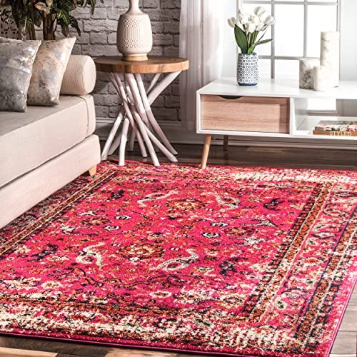 nuLOOM Anabel Distressed Floral Area Rug