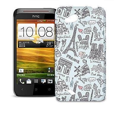 sports shoes df4bf f4248 Phone Case For HTC Desire VC T328D - Bonjour Paris! Hard Back ...