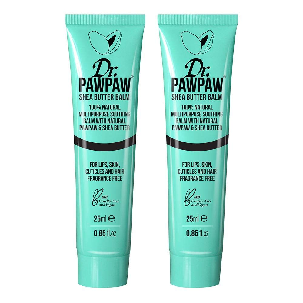 Dr. PAWPAW Shea Butter Balm, Multi-Purpose 100% Natural Vegan Friendly Balm, Great For Skin Irritations, Lips, Cheeks & Sun Burn, 2 x 25ml Duo Pack by Dr Paw Paw