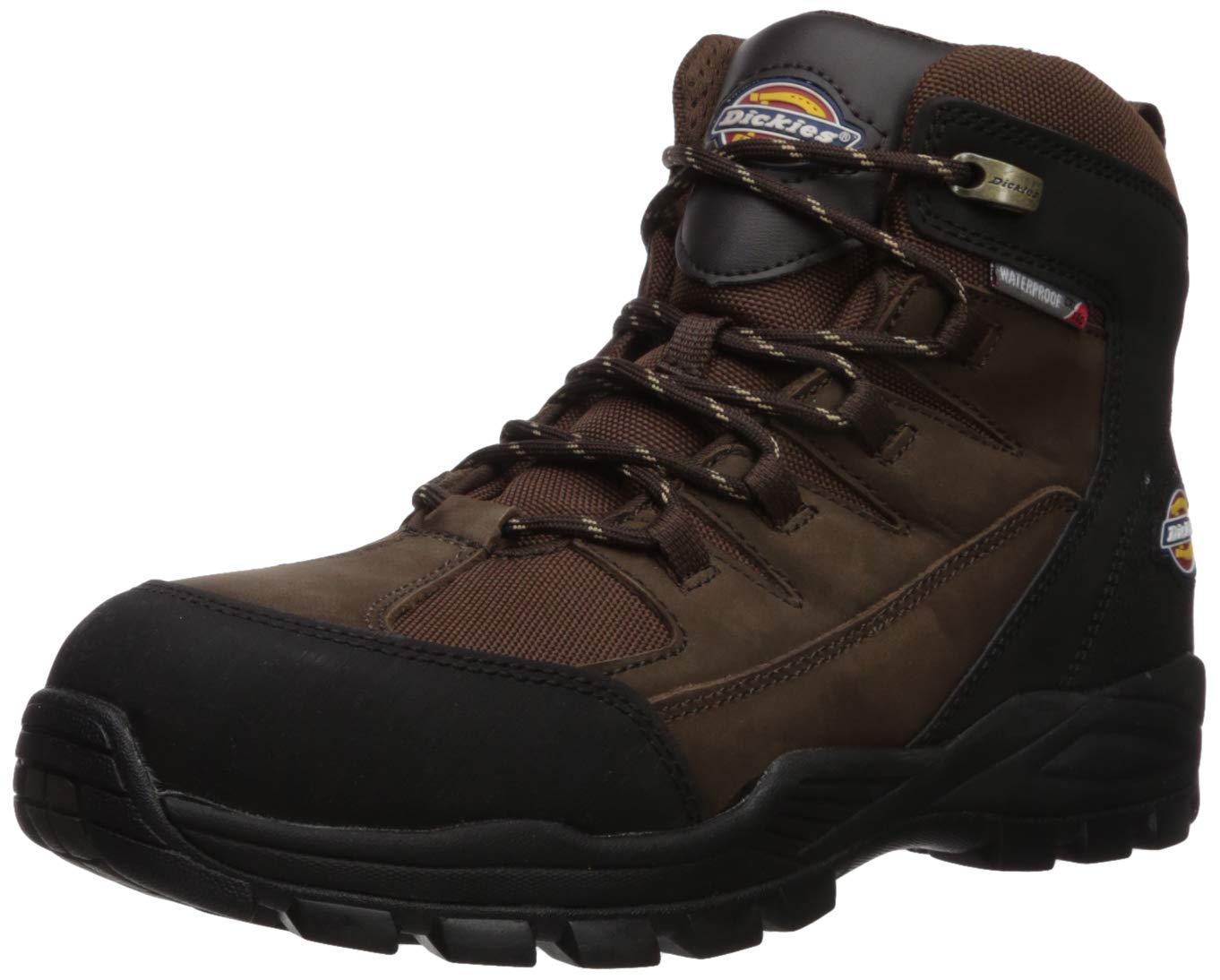 Dickies Men's Copperas 6'' Steel Toe EH Waterproof Industrial Boot, Brown, 9.5 Medium US by Dickies