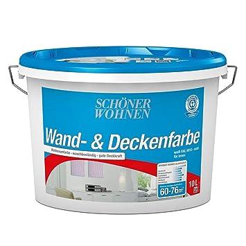 Wand Und Deckenfarbe 10 L Weiss Matt Din En 13 300 Schöner Wohnen