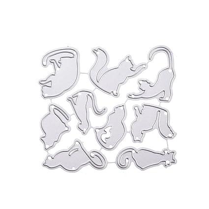 JAGETRADE Plantilla de Corte de Gato de Acero al Carbono para Manualidades, álbum de Recortes