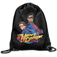 GONIESA Henry Danger Poster Men & Women Drawstring Backpack Rucksack Shoulder Bags Gym Bag