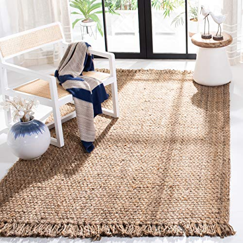 Safavieh Fiber Collection NF467A HandWoven Jute Area Rug 5#039 x 8#039 Natural