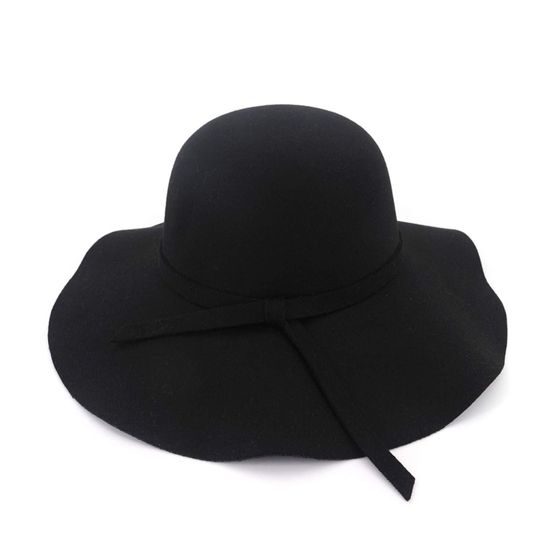 17268c23d43 XINBONG Autumn Winter Women Wide Brim Wool Fedora Hat Fashion Felt Hats  Woman Formal Bowler Hat Female at Amazon Women s Clothing store