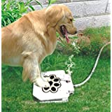 """Piepea Brass Valve Outdoor Dog/Pet Water Fountain, Step On Dog/Pet Water Dispenser System for Fresh Water, 2018 Upgraded Version Providing Constant Stream,41"""" Hose"""
