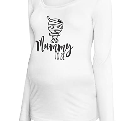 f85dadd0eb393 Zoey's Attic Halloween Maternity Shirt- Mummy to Be Short or Long Sleeve  Maternity t-Shirt at Amazon Women's Clothing store: