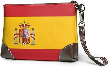 Estuche cosmético de maquillaje de viaje de la bandera de España, estuche de cepillos portátil Estuche de artículos de tocador Organizador de kit de viaje Estuche cosmético: Amazon.es: Belleza